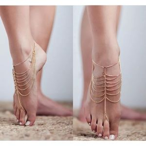Gold Chain Foot Swim Ankle Jewelry